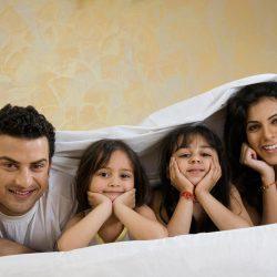 casal com filhos
